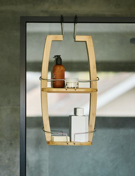 Bamboo Bathroom Shower Caddy