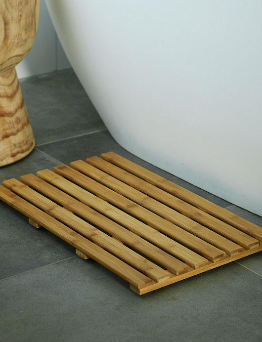 Bamboo Bathroom Bath Mat