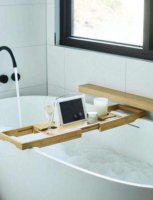 Bamboo Bathroom Bath Caddy