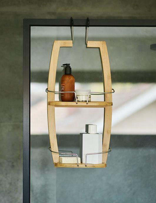 Bamboo Bathroom Shower Caddy